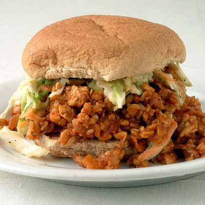 Tempeh Sloppy Joes with Coleslaw