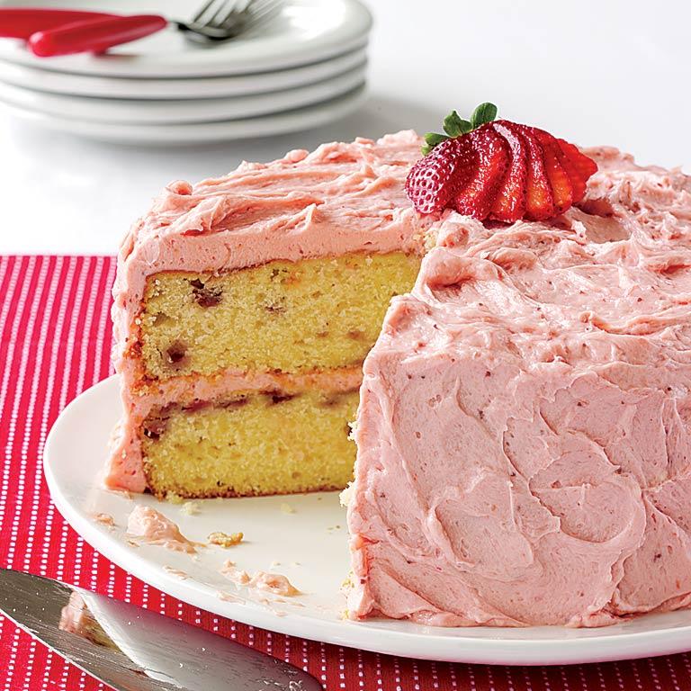 Pretty-in-Pink Strawberry Cake