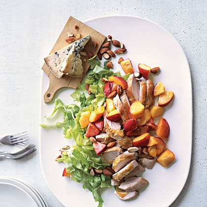Chicken and Peaches Platter Recipe