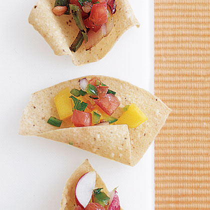 Mango Salsa RecipeCombine fresh chopped mango with fresh or jarred fruit salsa for a fruity take on this favorite Mexican appetizer.