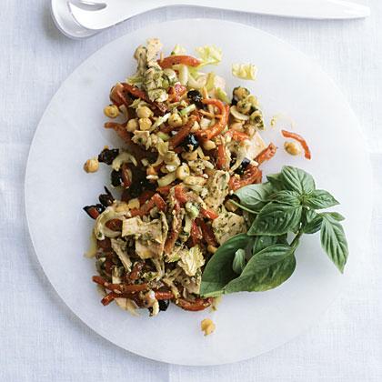 Tuna and Chickpea Salad with Pesto