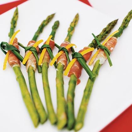 Prosciutto-Wrapped Asparagus with Citrus DipRecipe