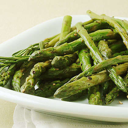 Pan-Roasted Asparagus with Lemon Rind Recipe