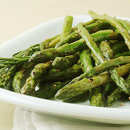 Pan-Roasted Asparagus with Lemon Rind