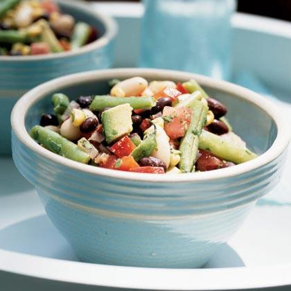 Zesty Three-Bean and Roasted Corn Salad
