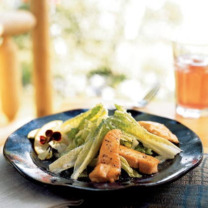 Grilled Salmon Caesar Salad Recipe Myrecipes