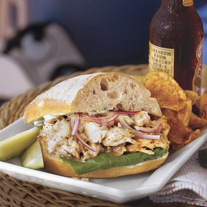 Fish Sandwiches RecipeUse steamed, poached, or baked fish in this sandwich. It's a great way to use leftover grilled fish too. Any firm white fish, such as tilapia, snapper, or grouper, works well