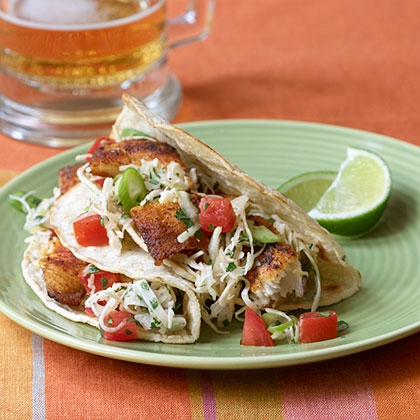 Fish tacos with cabbage slaw recipe myrecipes for Slaw recipe for fish tacos