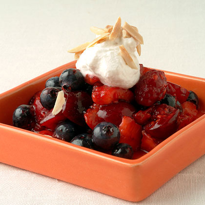 Summertime Fruit Salad with Cream