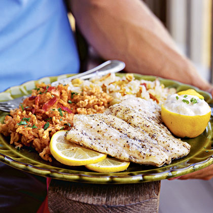 Greek Snapper on the GrillRecipe