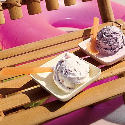 Strawberry Mint Ice Cream