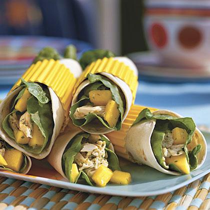Mango-Chicken Wraps