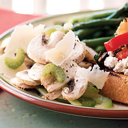 Mushroom Salad with Truffle Oil and Parmigiano-Reggiano