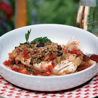 Oven-Poached Halibut Provençale
