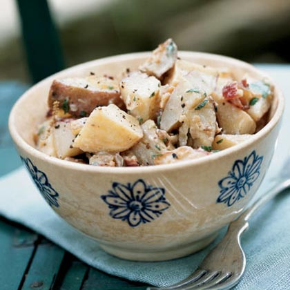 Roasted Potato Salad with Mustard Dressing