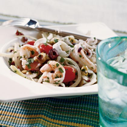 Italian Shrimp, Scallop, and Calamari Salad