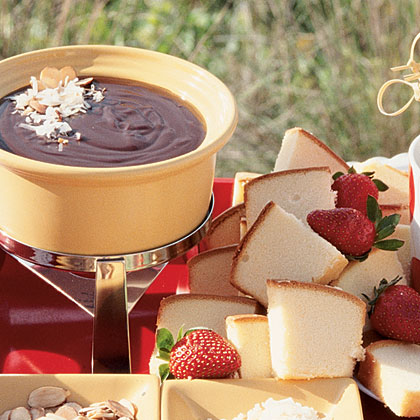 Chocolate Coconut-Cream Fondue Recipe