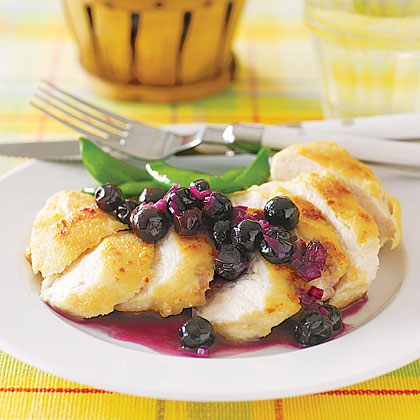 Sautéed Chicken with Fresh Blueberry Sauce Recipe