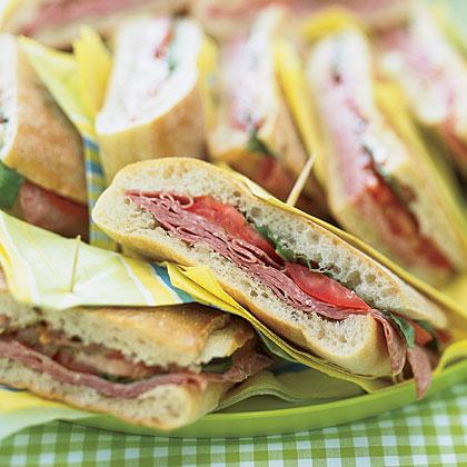 Pressed Mediterranean Sandwiches Recipe
