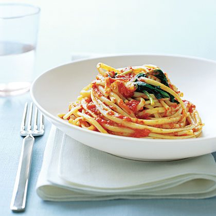 Linguine with Tomato Sauce Recipe