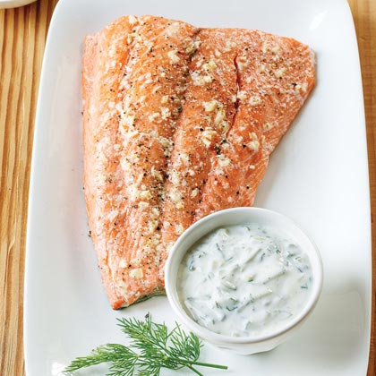 salmon with spinach salmon with creamy dill sauce roasted salmon ...