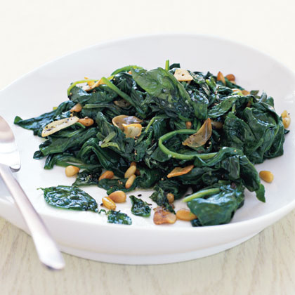 """Sautéed Spinach with Basil"""