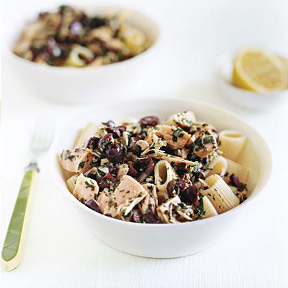 Pasta with Tuna and Black Olive Vinaigrette