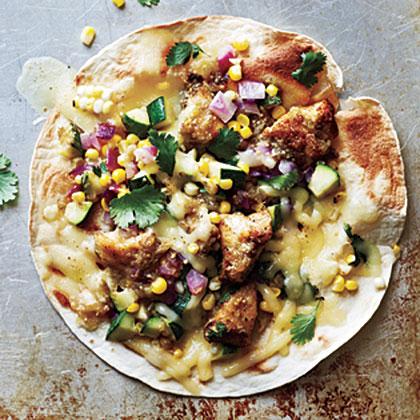 Chicken & Summer Vegetable Tostadas