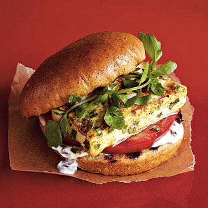 Grilled Lemon-Basil Tofu Burgers