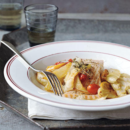 Roast Salmon and Vegetables
