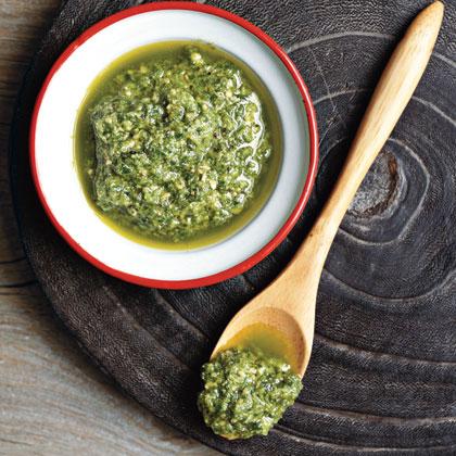 Simple Risotto with Pesto