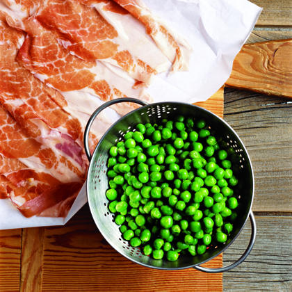 Simple Risotto with Prosciutto and Peas