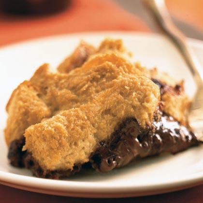 Mocha Fudge Bread Pudding