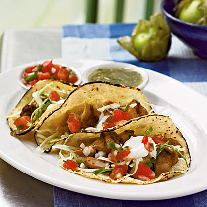 Soft chicken tacos recipe myrecipes forumfinder Choice Image