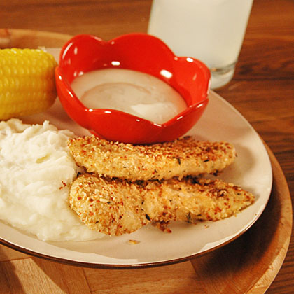 <p>Oatmeal-Crusted Chicken Tenders</p>