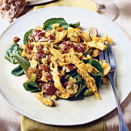 Curried Chicken-Spinach Salad Recipe