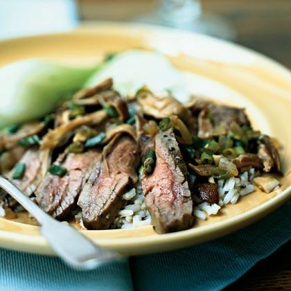 Flank Steak with Shiitake Mushroom Sauce