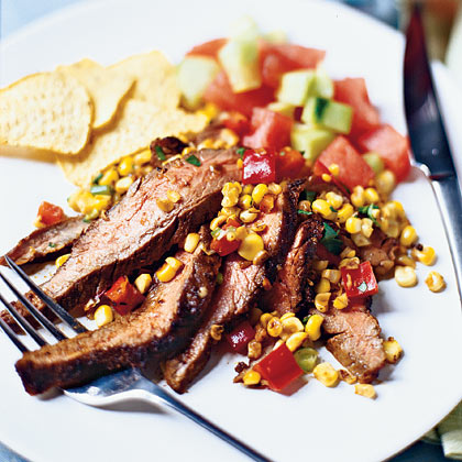 Flank Steak With Toasted-Corn Salsa
