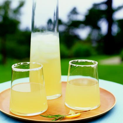 Ginger-Rosemary Lemon-Drop Cocktails Recipe