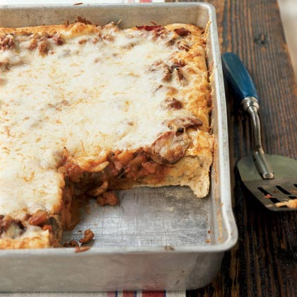 Sausage and Vegetable Deep-Dish Pizza Recipe