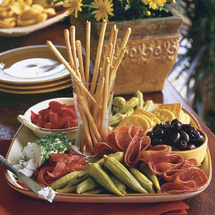 Simple antipasto platter recipe 0 myrecipes Ina garten appetizer platter