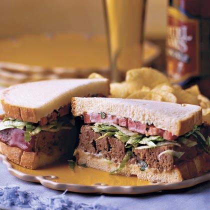 Basil-Tomato Meatloaf Sandwich