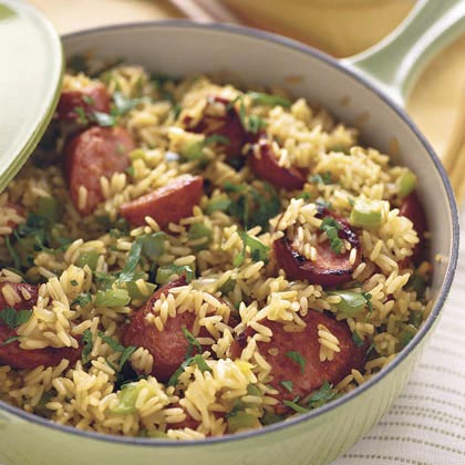 Skillet Sausage 'n' Rice Recipe