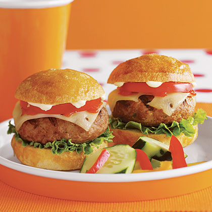 Over-the-Top Turkey Burgers Recipe