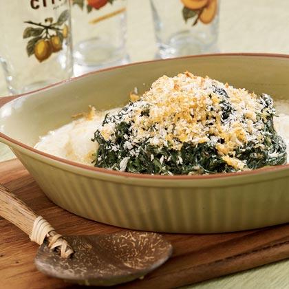 Cod-and-Creamed-Spinach Casserole Recipe