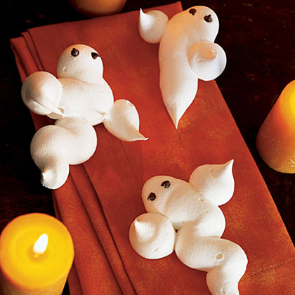 You don't even have to twitch your nose to create this bewitching menu featuring Roast Chickens with Vampireproof Garlic Garland, Green Salad with Dracula's Teeth, Broomstick Breadsticks, and Meringue Ghosts. It's easy, it's fun, and it it'll work magic on your hungry guests.