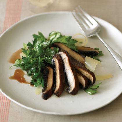 Slow-Roasted Portabellas on Parsley Salad