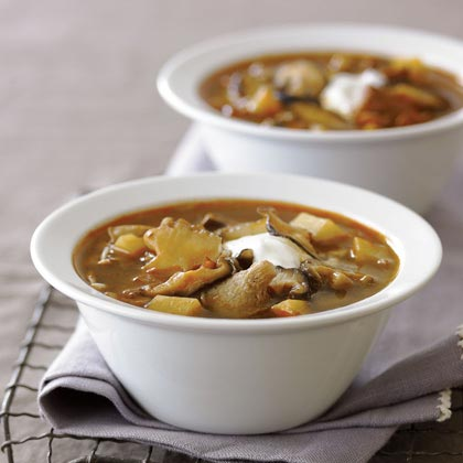 Mushroom-Potato Soup with Smoked Paprika