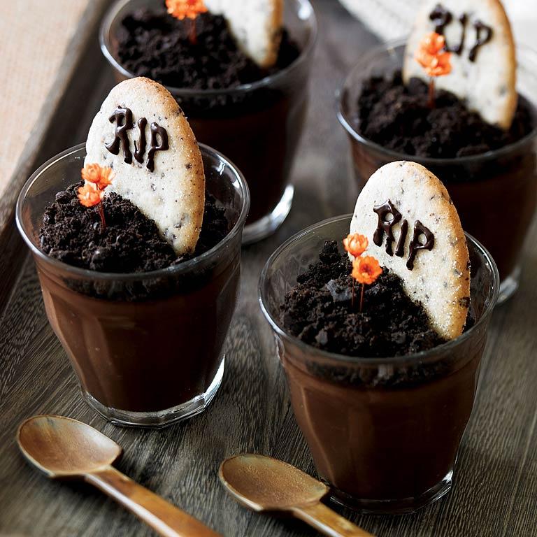 Dark Chocolate Graveyard Pots de Crème