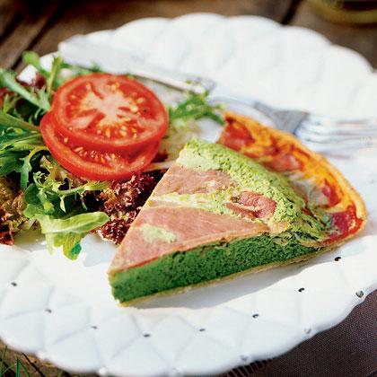 Prosciutto and Spinach Torta